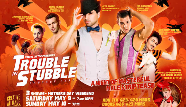 Masters of Male Striptease TROUBLE IN STUBBLE 2: SAUSAGE FEST