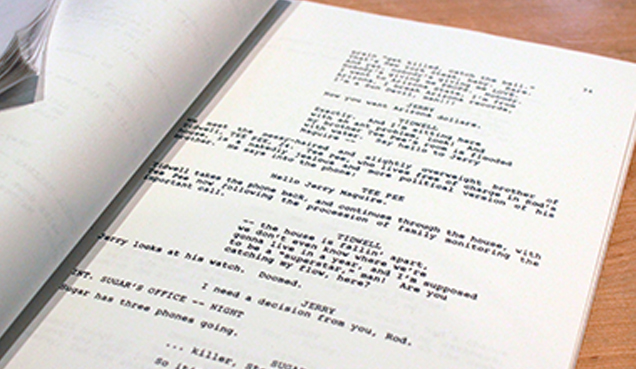 cancelled screenwriting 3 part series screenplay format writing