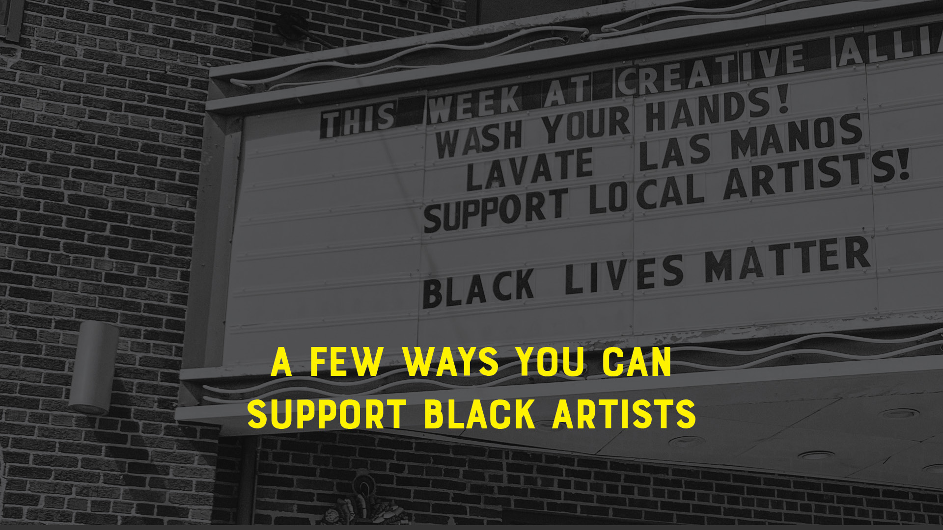 support black artists in baltimore